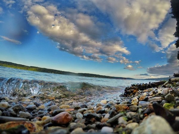 Sea Nature Water Pebble Sky Beauty In Nature Beach Cloud - Sky Horizon Over Water Shore Pebble Beach Tranquil Scene Outdoors Tranquility Day No People EyeEm Selects