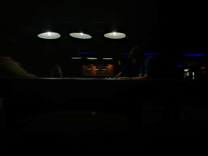 Night Dark Indoors  Nightlife Electricity  8ballpool Lighting Equipment Pool Table Illuminated Nightclub No People
