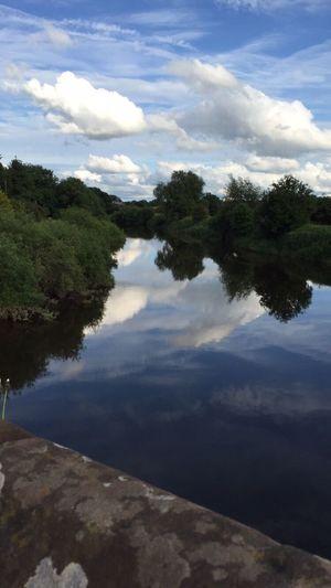 Sky Wales Water Reflection Cloud Farndon