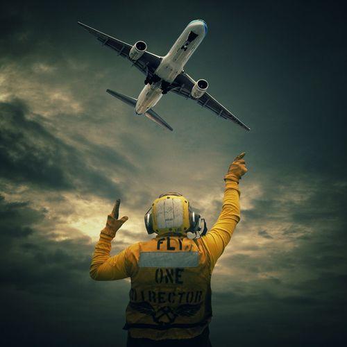Incoming. Plane Aeroplane Control Digital Art ArtWork Sky Controller Surrealism Surrealist Art Cool Featuremeinstagood Insta Air Vehicle