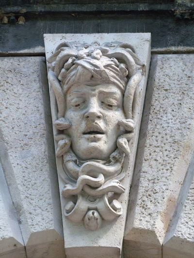 Building Feature, Andrassy Street Architectural Feature Architecture Art Bas Relief Budapest Building Exterior Building Feature Capital City Carved Face. Carved Stone Close-up Composition Face Full Frame Fun Gargoyle History Human Representation Hungary Low Angle View No People Outdoor Photography Sculpture Travel Destination