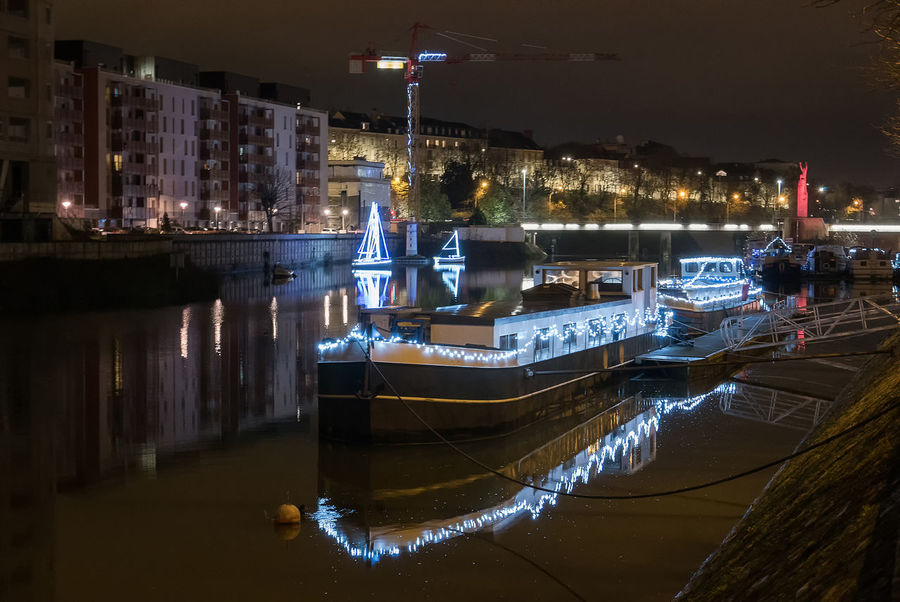 Architecture Building Exterior Built Structure Illuminated Mode Of Transport Moored Nautical Vessel Night No People Outdoors Sky Transportation Water Waterfront