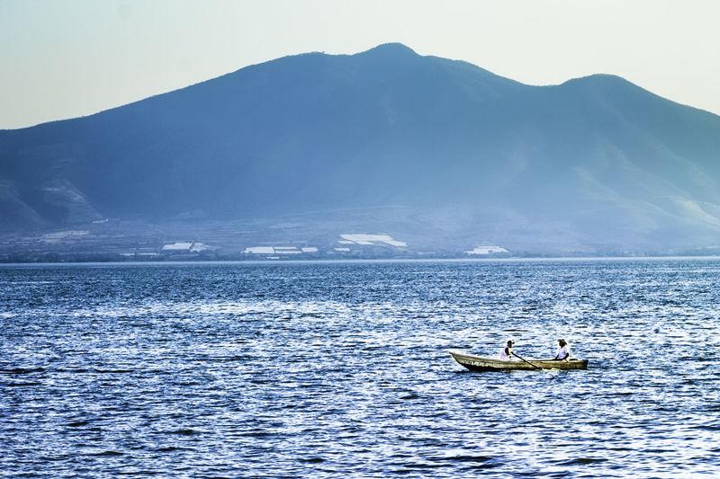 Fishermen Lake Lakeshore Lake View Lakes  Fisherman Boats Nautical Vessel Chapala Chapala Lake Jalisco Mexico Ajijic Bluelake Nature