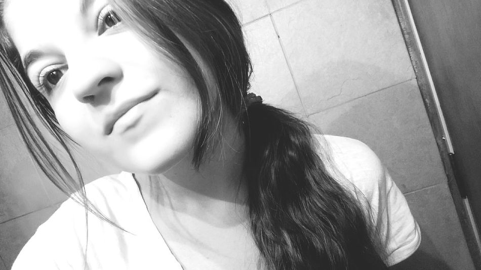 The girl with the broken smile. That's Me Hello World Selfie Photography People Girl Song Lyrics Quote Emotions Black And White Lonely Single Broken Smile