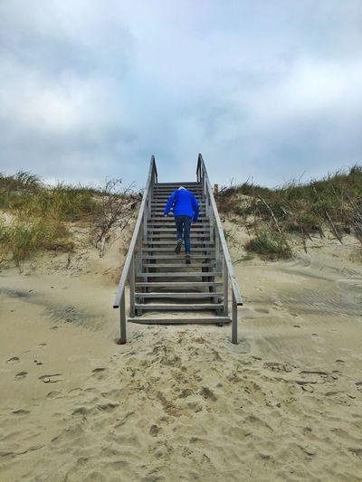 Baltics2k16 Steps Up Upwards Beach Kurische Nehrung Lithuania