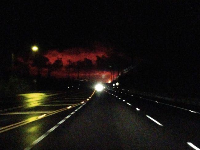 going home from Hilo and seeing the sky and thinking of all the devastation happening in kapoho. Big Island Big Island 2018 Lava Flow Glow Lava Illuminated Road Sky Headlight Vehicle Light Road Marking Highway Traffic Multiple Lane Highway The Great Outdoors - 2018 EyeEm Awards