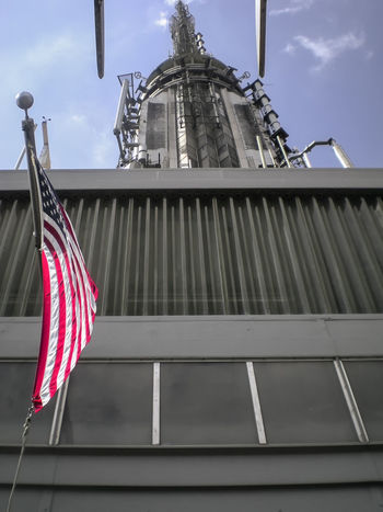 America American Flag Architecture Battle Of The Cities Big Apple Building Exterior Built Structure Empire State Building Flag Identity Low Angle View National Flag New York New York City Newyork NY NYC Outdoors United States USA