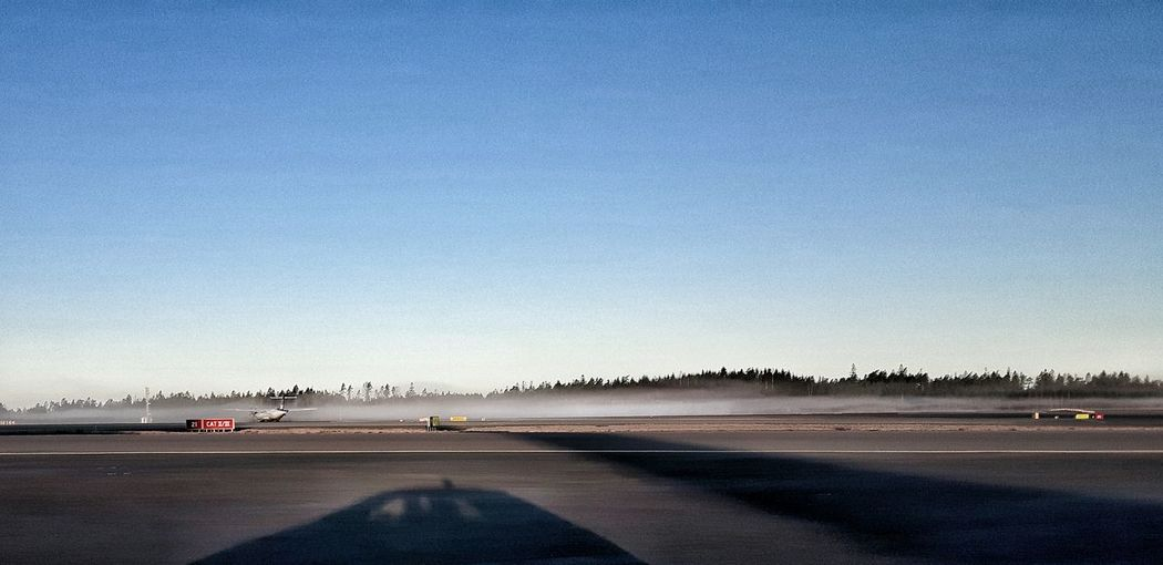 Airport Foggy Morning Shadow Runway Samsungphotography Showcase March Spring 2016 Godmorning Taking Photos Playing With Effects
