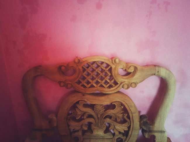 Chair Chair Art Wood Wood - Material Indoors  No People Pink Color Close-up Day EyeEmNewHere