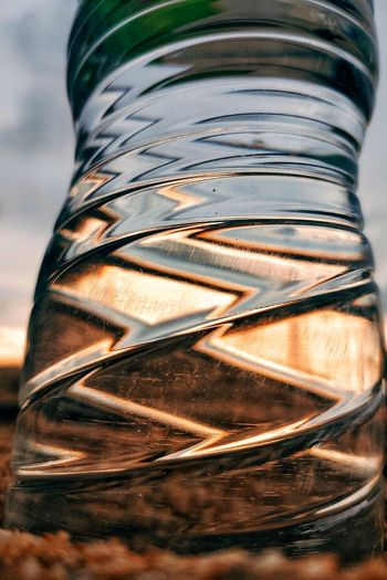 Close-up of glass of jar