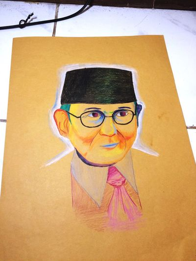 Bjhabibie Art Colorpencils Bapakteknologi Pujangga INDONESIA