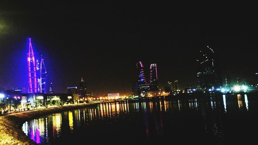 Night Illuminated Architecture Water Built Structure Building Exterior Sky City No People Building River Office Building Exterior