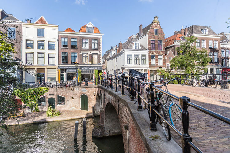 Netherlands Architecture Bridge Bridge - Man Made Structure Building Building Exterior Built Structure Canal Canal House Canal Houses City Connection Day Holland Incidental People Nature Oudegracht Outdoors Residential District Sky Town Transportation Utrecht Water Waterfront