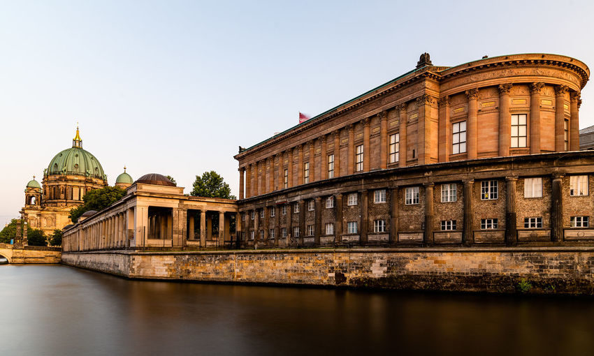 Cityscape of berlin. museum island and spree river