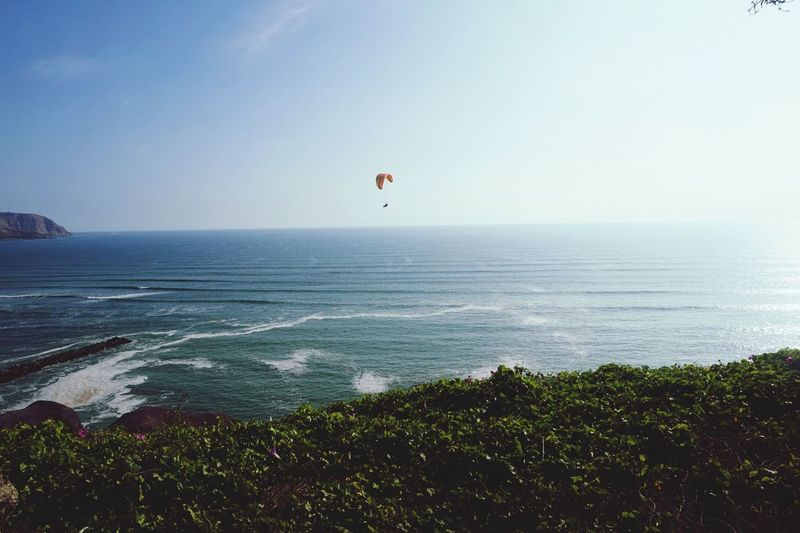 Sea Water Nature Horizon Over Water Parachute Adventure Outdoors Scenics Day Beauty In Nature Sky Extreme Sports Clear Sky Paragliding Beach One Person People EyeEmNewHere Perspectives On Nature