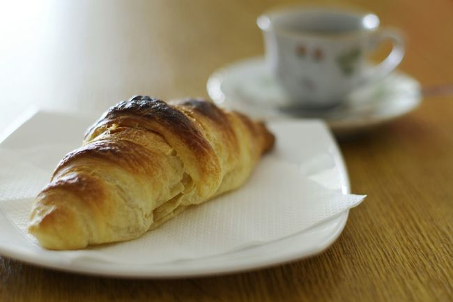 Time For Breakfast  .. Cornetto Homemade Coffee Time Coffee And Sweets Traditional Food Bakery Moka Good Morning Pentax K-5
