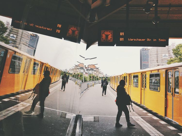 Adult People Adults Only Women Only Women Lifestyles Real People Full Length Day Men Young Women Young Adult Outdoors City One Person Reflection Reflection_collection Glass Reflection Subway Station Subway People Metro Station Bvg U-Bahn U-Bahnhof Discover Berlin