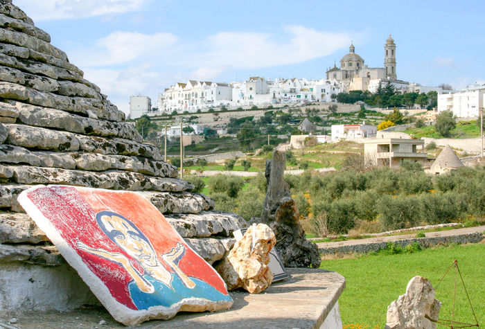 View of Locorotondo, valle d`itria, Puglia Locorotondo Panorama Puglia Roof View Architecture Building Exterior Built Structure Cloud - Sky Day History Italy Nature No People Old House Old Roof Olive Trees Outdoors Sky Spirituality Travel Destinations Tree Trulli Trullo Valle D'itria