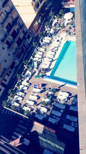 Swimming Pool High Angle View Hotel Balcony Randomshot Weird