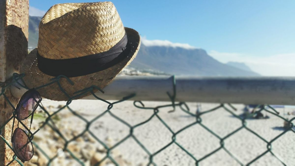 Holiday vibes Chainlink Fence Day No People Outdoors Headwear Close-up Nature Sky First Eyeem Photo