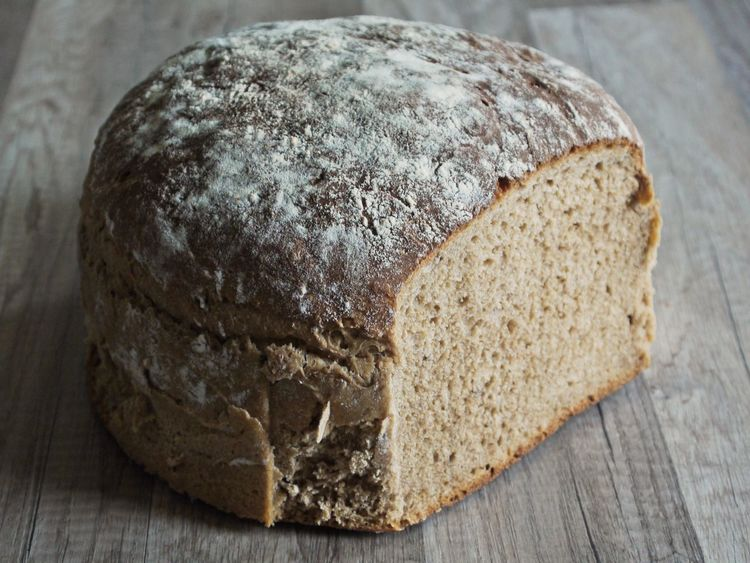 Bread Brown Brown Bread Close-up Day Food Food And Drink Freshness Healthy Eating Home Baking Indoors  Loaf Of Bread No People Wooden Desk