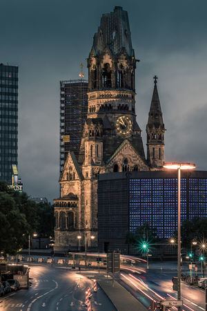 Berlin City West. One of the attractions. All time favourite! Berlin Cityscape Gedächtniskirche Germany🇩🇪 Kaiser-Wilhelm-Gedächtnis Kirche Traffic Architecture Berliner Ansichten Building Exterior Built Structure City Cloud - Sky Gedaechtniskirche Illuminated Long Exposure Motion Night No People Outdoors Place Of Worship Religion Sky Traffic Lights Travel Travel Destinations