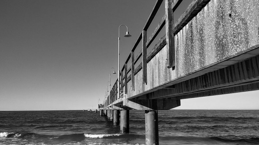 Seebrücke Göhren Seebrücke Göhren Rügen Rügen Lovers Rügen Insel GERMANY🇩🇪DEUTSCHERLAND@ Bridge Baltic Sea Ostsee Ostseeküste Mecklenburg-Vorpommern Water Sea Beach Clear Sky Bridge - Man Made Structure Girder Sky Architecture Built Structure Horizon Over Water Calm Seascape Coast Wave The Traveler - 2018 EyeEm Awards The Great Outdoors - 2018 EyeEm Awards
