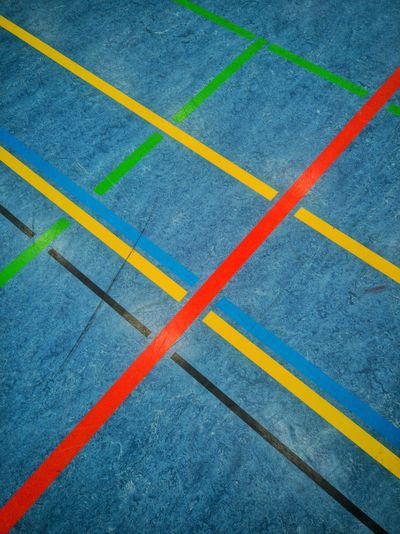 Ground with colored line markings for sports Sports Field Sportfield Parallel Yellow Line Single Line Marking Yard Line - Sport Double Yellow Line Dividing Line American Football Field Road Marking