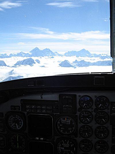 Mountain Cloud - Sky Mountain Range Sky Dashboard Transportation EyeEmNewHere Control Panel Air Vehicle Airplane Scenics Cockpit Snow Nature Outdoors 🌏my Life⛩ 🤠my Holidays😎 Everest Region Himalayas Nepal 2007