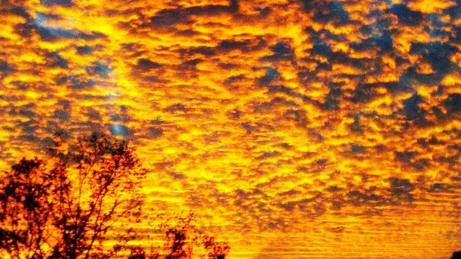 Abstract Outdoors Sunset Fire In The Sky Clouds And Sky Orange Sunset Orange