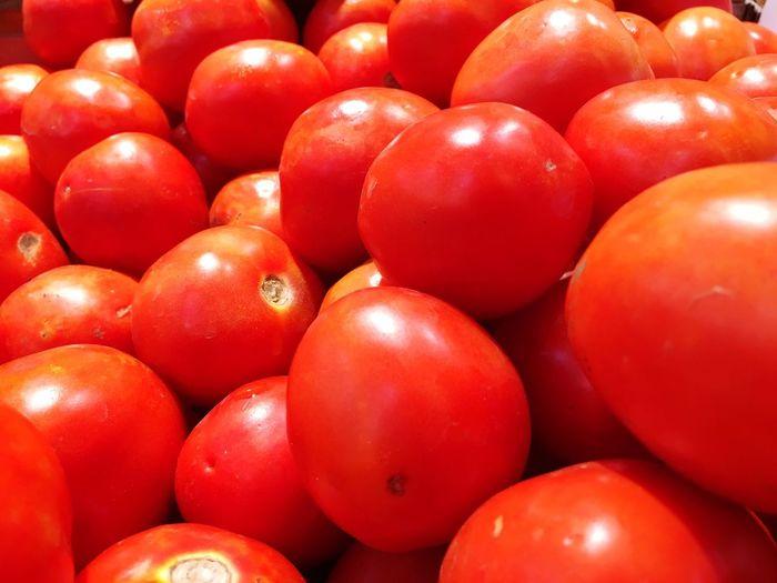 Full frame shot of tomatoes at market