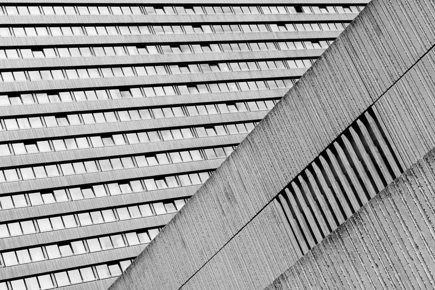 Façade The Architect - 2018 EyeEm Awards Abstract Architecture Blackandwhite Building Exterior Built Structure Low Angle View Pattern Repetition Textured  Windows
