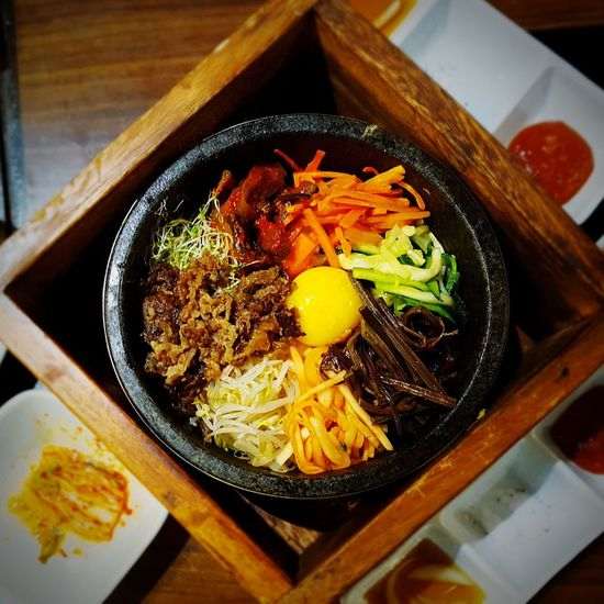 Bibimbap is ❤ Freshness Food And Drink Healthy Eating Food No People Egg Yolk Chopsticks Korean Food Korean Culture Bibimbapbowl Hot Food Rice - Food Staple Well-balanced Delicious Gochujang Anyonghaseyo Saranghamnida Foodporn Asian Culture Asian  Asian Foods Kfood Vegetables EyeEmNewHere