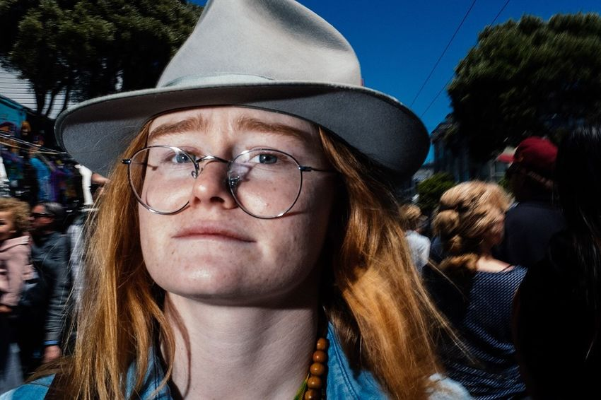 Haight Ashbury, SF -2018 Street Photography Flash Portrait Looking At Camera Glasses Headshot Young Adult One Person Eyeglasses