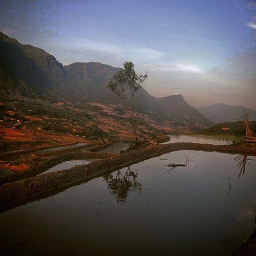 Sapa Evening Sapa Vietnam Travel Trekking Picturesque Ricepaddies Evening Mountains