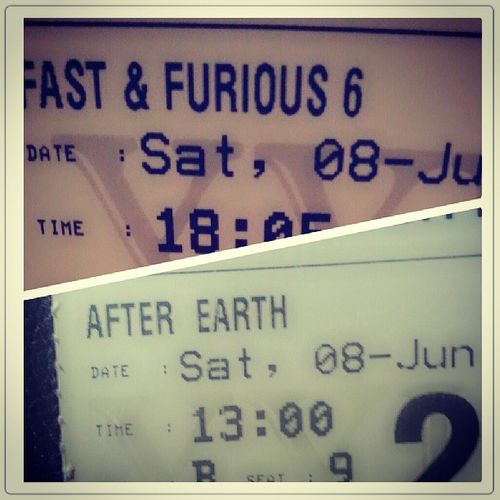 Today I am watched movie twice...and this all movie was amazing! Watchmovie Fastfurious6 Afterearth Recomendedmovie