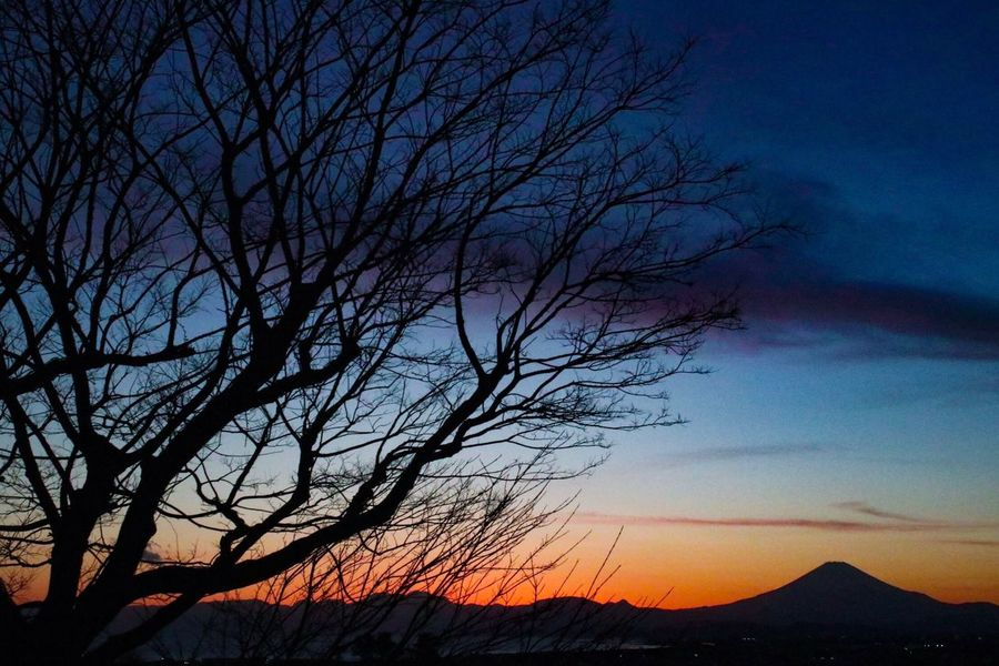 藤沢 富士山 夕焼け