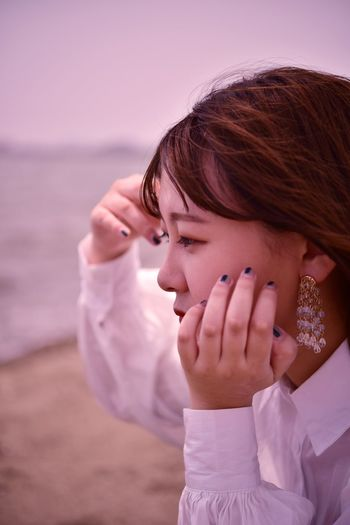 Portrait of girl on beach