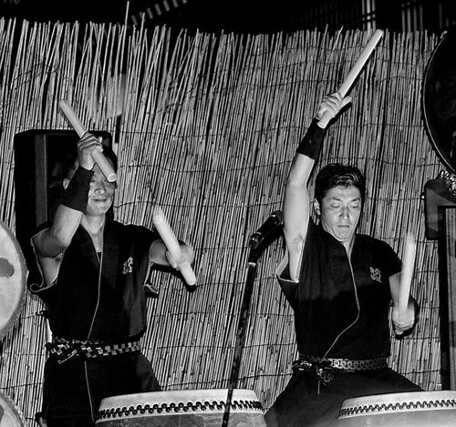 Kinosaki Two People Drummer Drumming Japan Blackandwhite Night