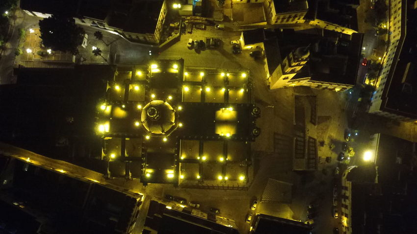 Drone Catedral Jerez de la Frontera Old Architecture Ghotic Architecture Aerea Night Cathedral Catholic Church Drone  Dronephotography Drone Photograph EyeEmNewHere City Illuminated Cityscape Architecture Building Exterior A New Beginning