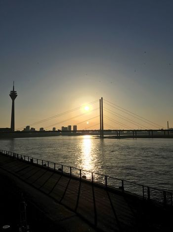 Düsseldorf Sun Sunset Rhein Rhine Fernsehturm IPhoneography Water River River View Enjoying The Sun Enjoying The View
