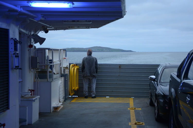 Scotland One Person Real People Rear View Standing Looking Away Traveling Travel Photography Shetland Whalsay Ferry Ferryboat Boat Deck It's About The Journey