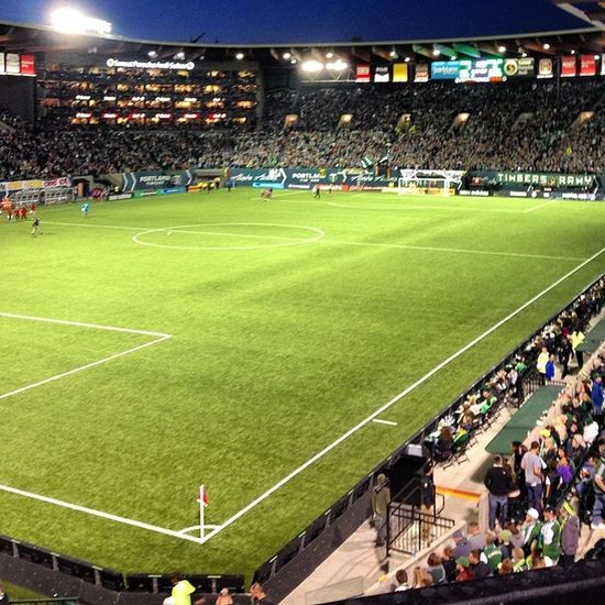 Seeing what these timbers games are all about....cool! Firsttimbersgameever Thanksfortheticketschels Portlandtimbers