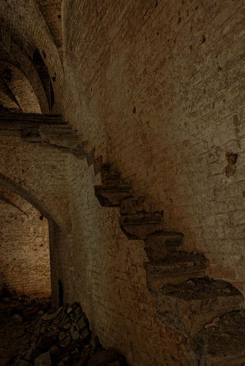 There used to be a staircase Brick Wall Old Ruins Staircases World War I Ancient Ancient Civilization Architecture Basement Built Structure Cellar Confined Space Day Historical History History Architecture Indoors  Military Fortress Monument No People Old Ruin Staircase Steps And Staircases