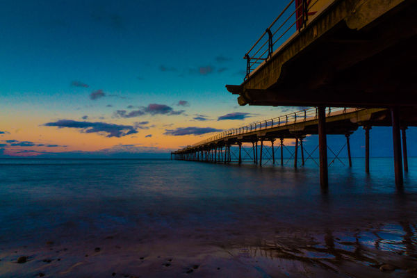Beach Photography ND Filter Pier Architecture Beach Beachphotography Built Structure Clouds Clouds And Sky England Horizon Over Water Nature Nd Outdoors Saltburn Sea Sky Sunset Tranquil Scene Tranquility Uk Water
