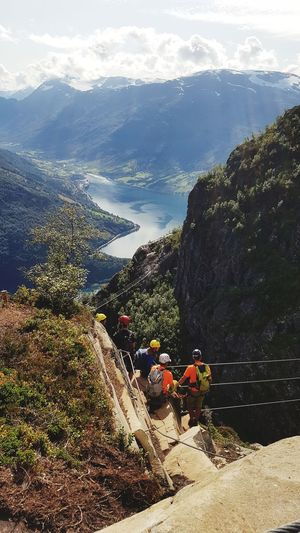 Climbing People Day Nature Outdoors Mountain Sea Water Sky Men Beauty In Nature Nature Photography Mountain Range Norway🇳🇴 Mountains And Valleys Climbing Up Norway Nature Tree Landscape Norway Nature Climbing Climbers Climbing A Mountain Climb Up!
