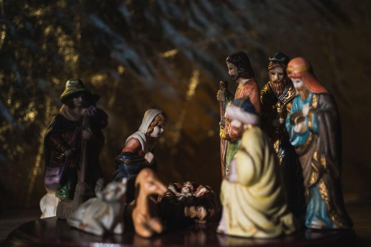 Baby Christmas Christmas Christmas Decorations Church Figure Jesus Joseph Mary Nativity Nativity Scene Nativity Scene Night People Shepherd Shepherds