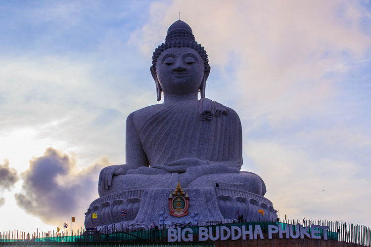 Amazing Massive white marble Buddha statue, the famous tourist attraction on top of hill in Phuket, Thailand. Big Buddha Marble Statue Massive Stone Buddha Architecture Big Buddha Temple Big Buddha Statue Big Buddha, Thailand Cloud - Sky Day Giant Buddha Human Representation Idol Low Angle View Male Likeness Marble Buddha Marble Stone Nature No People Outdoors Religion Sculpture Sky Spirituality Statue Worship Places
