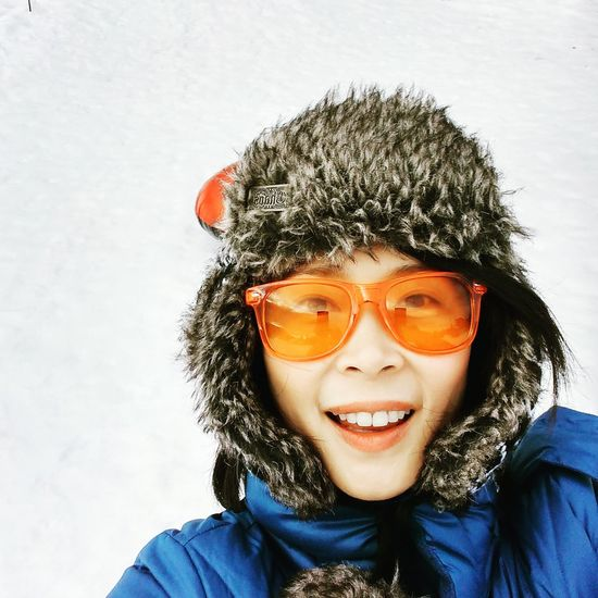 Selfie ✌ MtHoodOregon Governmentcamp Snow Winter Sunglasses Orange Color