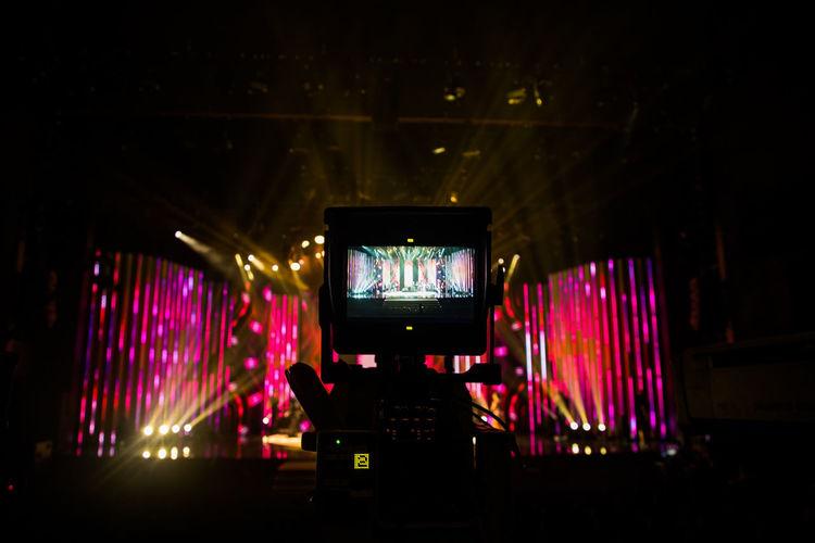 #Camera #Canon #stagephotography Illuminated Indoors  Night No People Technology